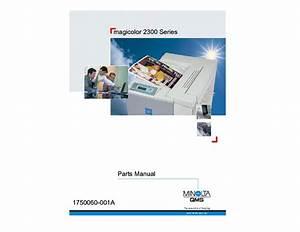 Konica Minolta Qms Magicolor 2300 Parts Manual Service