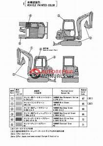 Yanmar Crawler Backhoe B37-2a Parts Manual