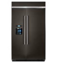 29.5-Cu Ft Built-In Side-By-Side Refrigerator Single (Black Stainless