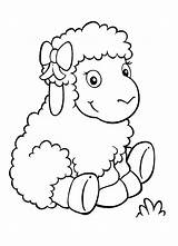 Sheep Coloring Adorable Pages Coloringsky Drawing Animal Printable Animals sketch template