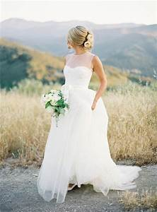 illusion neckline wedding dress saja summer wedding dress With wedding dresses for summer outdoor weddings