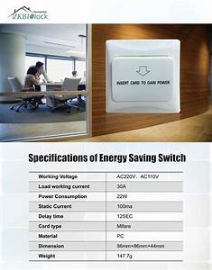 Energy Saving Switch For Hotel Zkteco  Energy Saving Switch Chennai