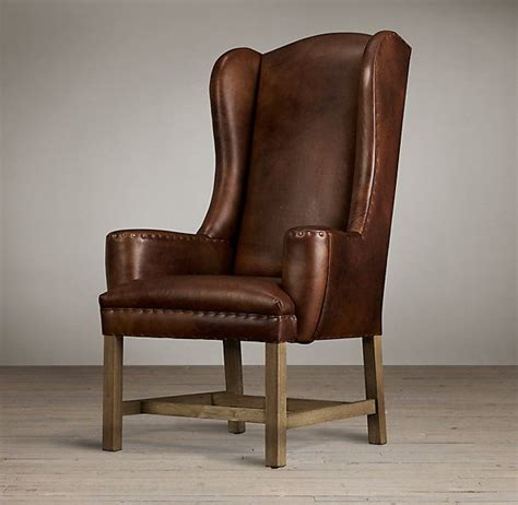 Leather Dining Armchair by Belfort Wingback Leather Dining Chair Restoration