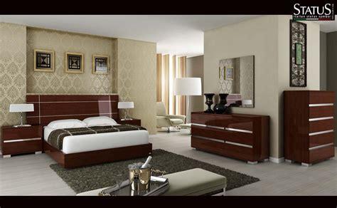 dream king size modern design bedroom set walnut  pc