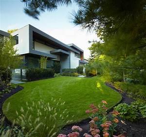 une maison de luxe ultra moderne et design au canada With photo jardin moderne design