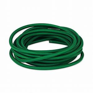 Forest Green Cloth Covered Electrical Wire
