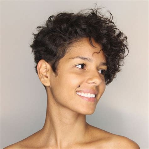 Click through to see all the different ways to cut and style a pixie of different hair colors, types the top pixie haircuts of all time. 60 Most Delightful Short Wavy Hairstyles in 2020   Curly pixie haircuts, Short curly hair, Short ...