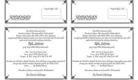 contoh undangan tahlil  folio jadi  contoh isi undangan