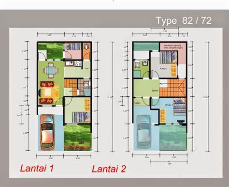 desain rumah minimalis  lantai luas tanah  type terbaru