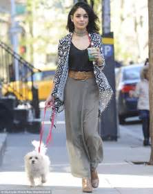 Vanessa Hudgens takes her dog Darla for a stroll in NYC ...