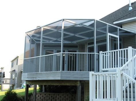 roof enclosures white aluminum frame three season room