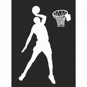 Deco chambre basketteur for Décoration chambre adulte avec sticker transparent pour fenetre