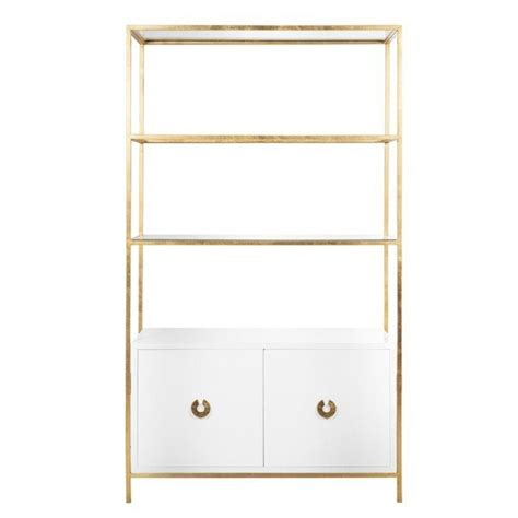 White Etagere by Wyeth White Gold Leaf Etagere Shop Now