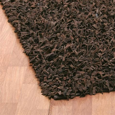 leather shag rug leather shag rug from pelle by st croix plushrugs