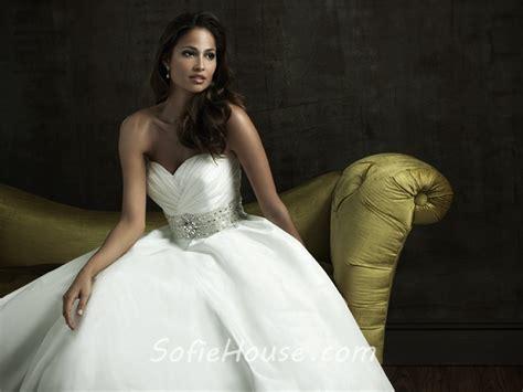 Simple A Line Sweetheart Taffeta Wedding Dress With
