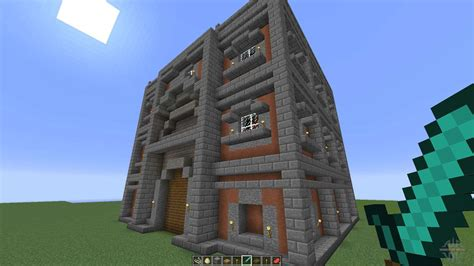 cubic town house  minecraft
