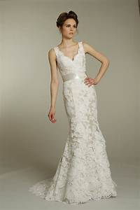 romantic ivory v neck lace wedding dress with champagne With ivory lace wedding dress