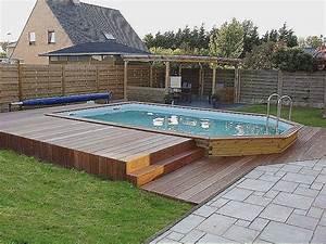 Escalier Pour Piscine Hors Sol : piscine semi enterree avec escalier pour piscine hors sol ~ Dailycaller-alerts.com Idées de Décoration