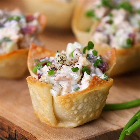 canape food these chicken salad bites for a crowd pleasing