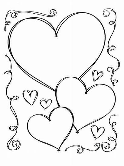 Coloring Pages Heart Hearts Printable
