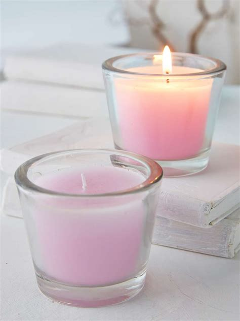 pastel lilac glass candle votive pastel hues lilac candle
