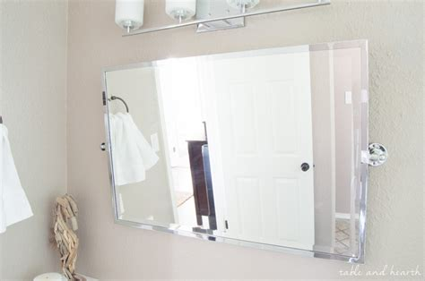 Pivot Bathroom Mirror Australia by A Shiny New Master Bathroom Mirror Table And Hearth
