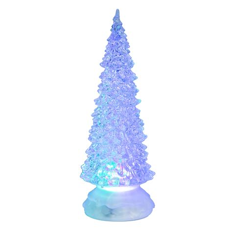 add to xmas tree water trimming traditions 10 quot battery operated led color change water filled tree d 233 cor
