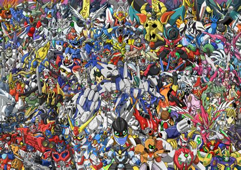 All Anime In One Wallpaper - crunchyroll a collage history of mecha through the years
