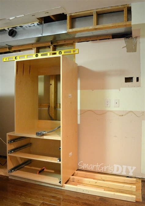 diy install kitchen cabinets how to build a pantry wall with barker cabinets