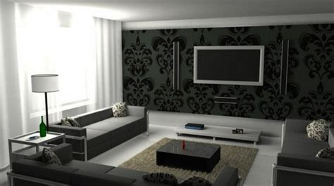 Grey Wallpaper Room Designs Wallpaper Directory