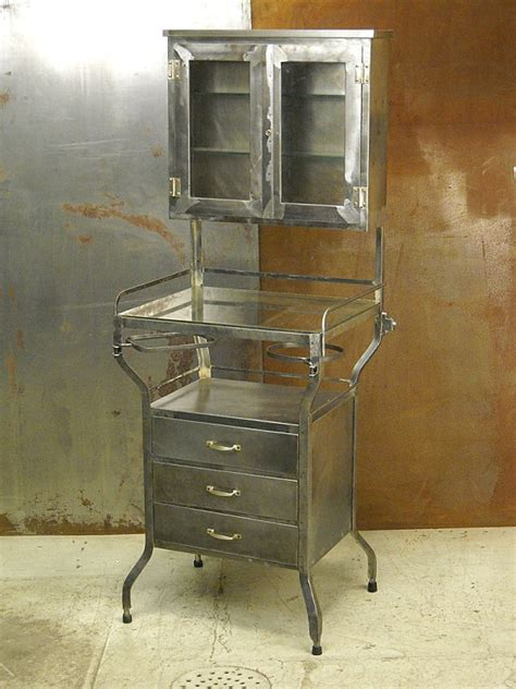 vintage metal cabinets create a cabinet of curiosities