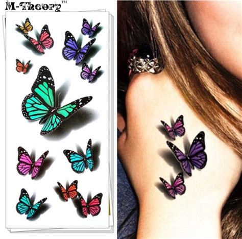 temporary butterfly tattoo sticker body art removable