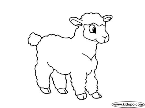 sheep coloring page cute sheep  coloring page