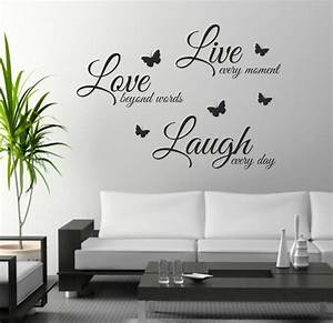 foodymine live laugh love wall art sticker quote wall With live love laugh wall art