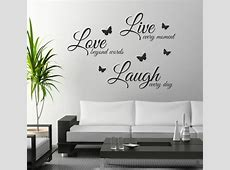 FoodyMine Live Laugh Love wall art sticker quote wall