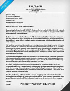 accounting cover letter sample writing tips resume With how to write cover letter for accounting job