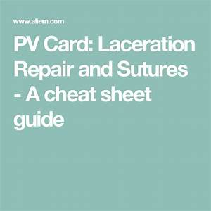 Pv Card  Laceration Repair And Sutures