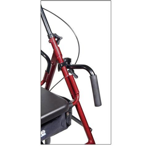 drive duet rollator transport chair combo maxiaids drive duet transport chair and rollator burgundy
