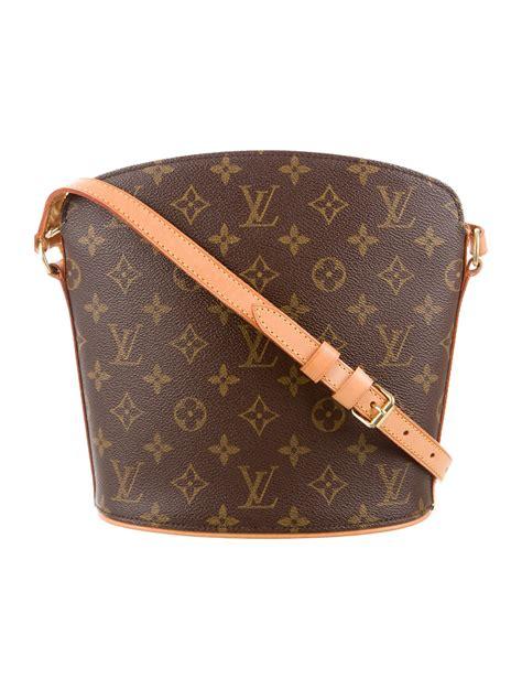louis vuitton monogram drouot crossbody bag handbags lou  realreal