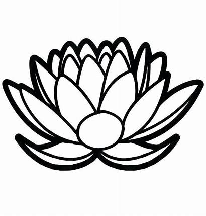 Lotus Coloring Flower Pages Drawing Temple Single