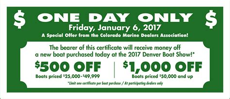 Boat Us Coupon by Coupons Discounts Denver Boat Show