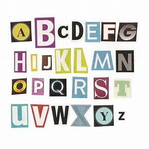 Magazine letters cut out quotes quotesgram for Cut letters