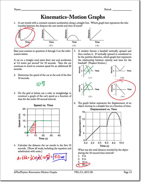 Motion Graphs Archives  Regents Physics