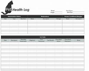 pet health record template pet health records With dog health record template