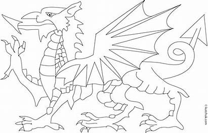 Welsh Dragon Coloring Pages Colouring Flag Printable