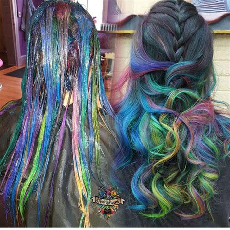 mermaid color hair mermaid hair color by hairbykoh rainbow hair color www