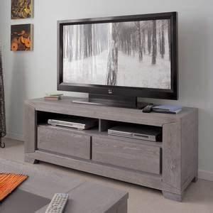 Meuble Tv Bois Gris : meuble tv design industriel scandinave c 39 est par ici ~ Teatrodelosmanantiales.com Idées de Décoration