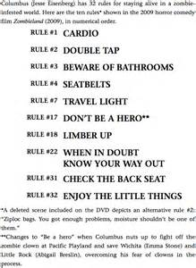 Zombieland Rules Quotes