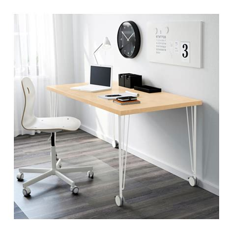 Ikea Desk Legs With Casters by Krille Leg With Castor White 70 Cm Ikea