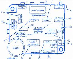 Ford Corsair 1991 Fuse Box  Block Circuit Breaker Diagram